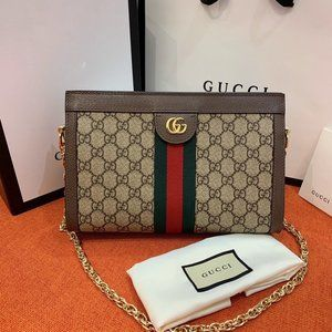 Gucci 503877 Ophidia GG Small Shoulder Bag Brown